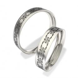 Snubní prstýnky z chirurgické oceli 3008 (Snubní prsteny 3008)