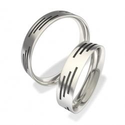 Snubní prsteny z chirurgické oceli 3009 (Snubní prsteny 3009)
