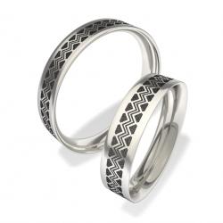 Snubní prsteny z chirurgické oceli 3007 (Snubní prsteny 3007)