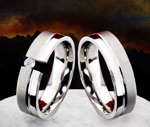Snubní Titanové prsteny JT980 (Snubní prsteny JT980)