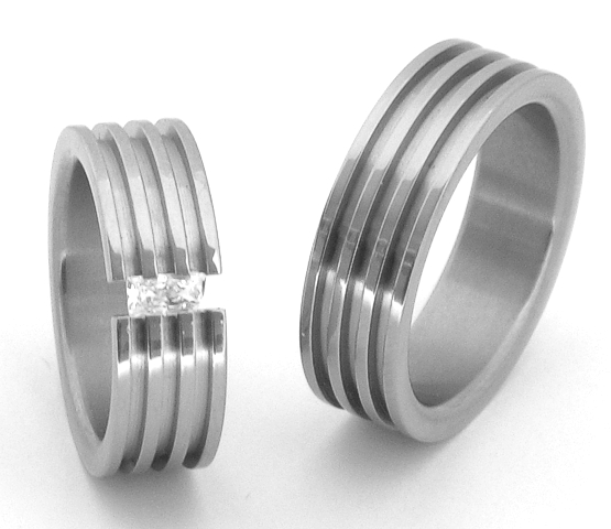 Snubní Titanové prsteny ttn4201+ttn4202 (Snubní prsteny ttn4201+ttn4202)