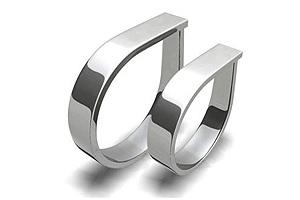 Snubní prsteny z chirurgické oceli 0391 (Snubní prsteny 0391)