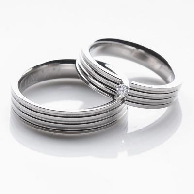 Snubní prsteny z chirurgické oceli OC1002 (Snubní prsteny OC1002)