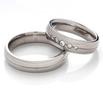 Snubní Titanové prsteny JT1003