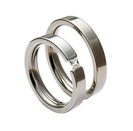 Snubní prsteny z chirurgické oceli OC1014 (Snubní prsteny OC1014)