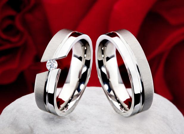 Snubní prsteny z titanu JT005 (Snubní prsteny JT005)