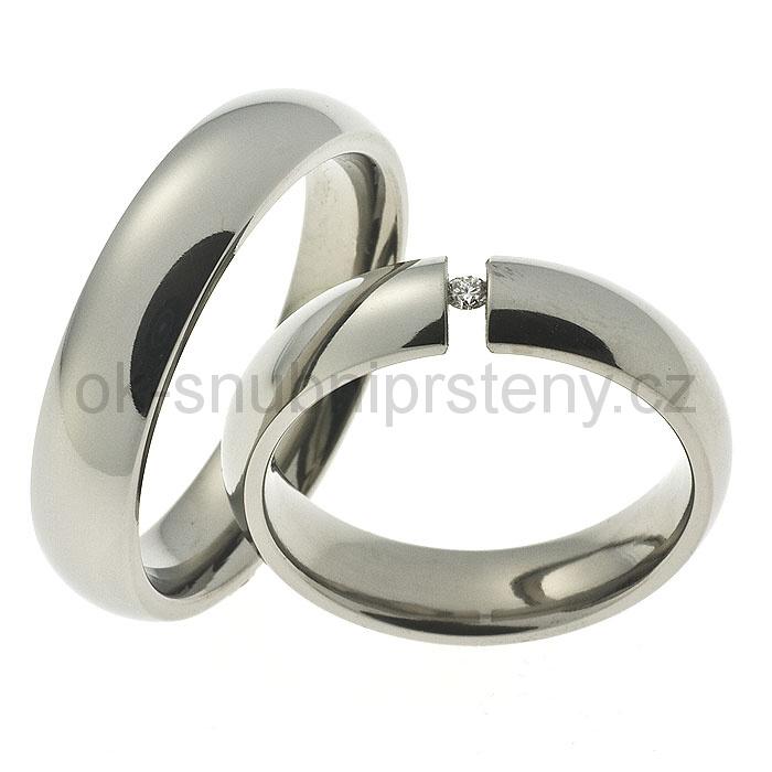 Snubní Titanové prsteny OCT1011 (Snubní prsteny OCT1011)