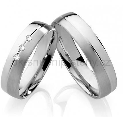 Snubní prsteny z chirurgické oceli OC1046 (Snubní prsteny OC1046)