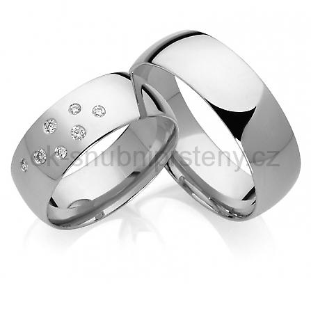 Snubní prsteny z chirurgické oceli OC1016 (Snubní prsteny OC1016)