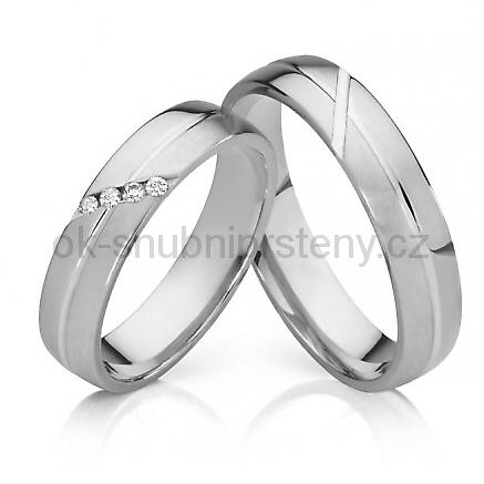 Prsteny z chirurgické oceli OC1017 (Snubní prsteny OC1017)