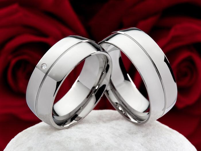 Snubní Titanové prsteny JT006 (Snubní prsteny JT006)