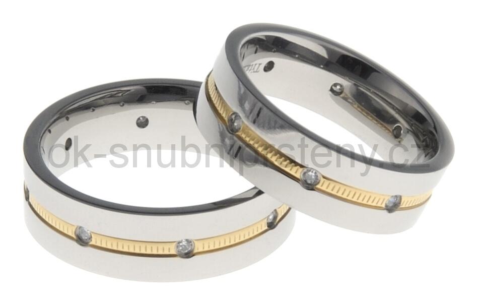 Snubní Titanové prsteny 43227 (Snubní prsteny 43227)
