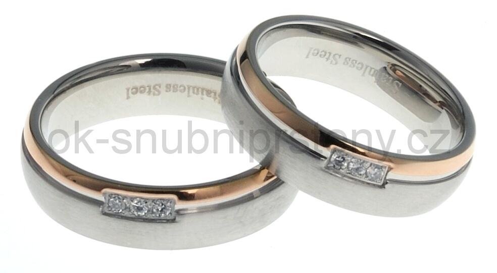 Snubní prsteny z chirurgické oceli 13216 (Snubní prsteny 13216)