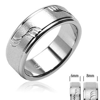 Snubní prsteny z chirurgické oceli R-H0801 (Snubní prsteny z chirurgické oceli R-H0801)