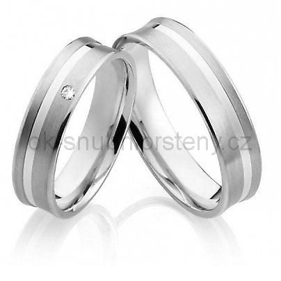 Snubní prsteny z chirurgické oceli OC1023 (Snubní prsteny z chirurgické oceli OC1023)