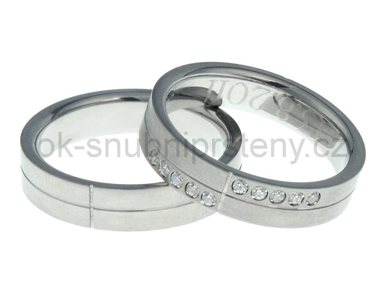 Snubní prsteny z chirurgické oceli OC1025 (Snubní prsteny z chirurgické oceli OC1025)