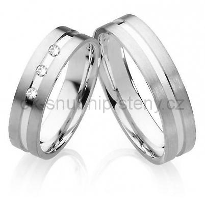 Snubní prsteny z chirurgické oceli OC1027 (Snubní prsteny z chirurgické oceli OC1027)