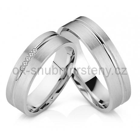 Snubní prstýnky z chirurgické oceli OC1032 (Snubní prsteny OC1032)