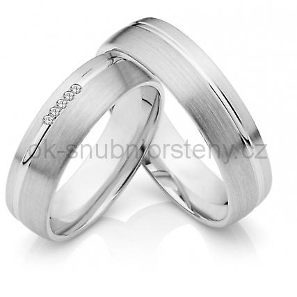 Elegantní snubní prstýnky z chirurgické oceli OC1033 (Snubní prsteny OC1033)