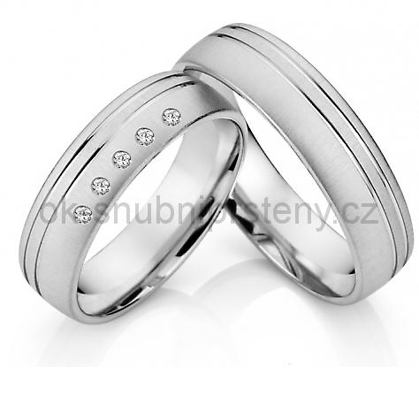 Snubní prstýnky z chirurgické oceli OC1035 (Snubní prsteny OC1035)