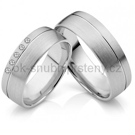 Snubní prstýnky z chirurgické oceli OC1036 (Snubní prsteny OC1036)