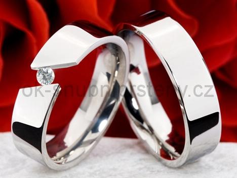 Snubní prsteny z chirurgické oceli OC1131