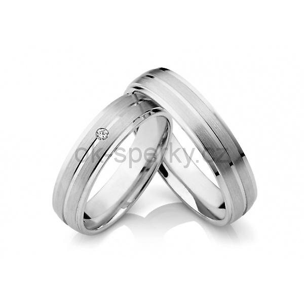 Snubní prstýnky z chirurgické oceli OC1039 (Snubní prsteny OC1039)