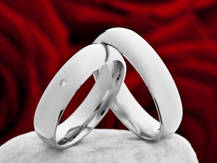 Snubní Titanové prsteny JT007 (Snubní prsteny JT007)