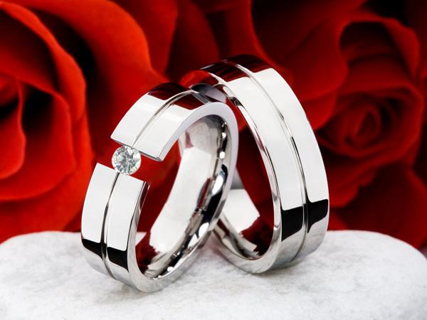 Snubní Titanové prsteny JT008 (Snubní prsteny JT008)