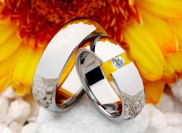 Snubní prsteny z titanu JT011 (Snubní prsteny JT011)