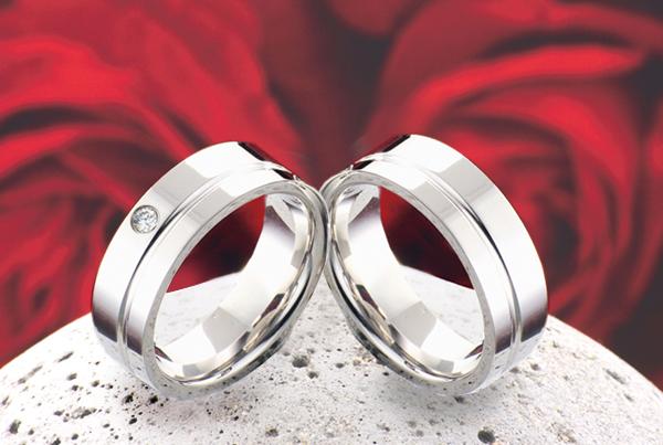 Snubní prsteny z titanu JT012 (Snubní prsteny JT012)