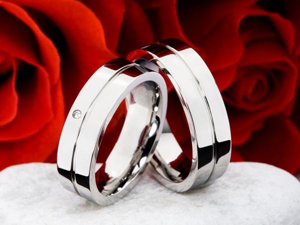 Titanové snubní prsteny JT013 (Snubní prsteny JT013)