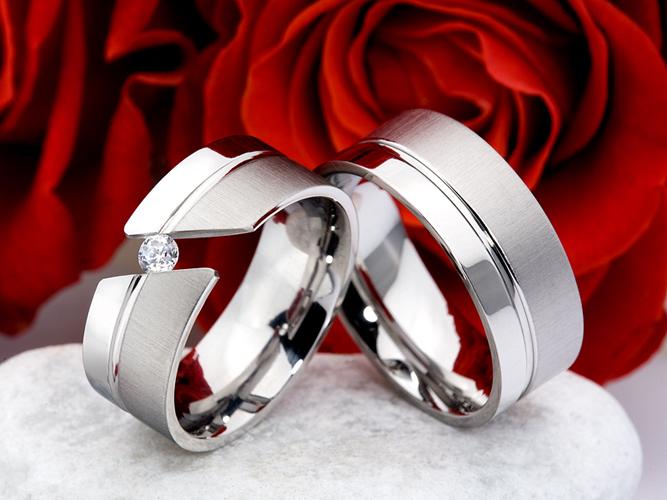 Snubní Titanové prsteny JT015 (Snubní prsteny JT015)