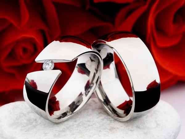 Snubní Titanové prsteny JT016 (Snubní prsteny JT016)