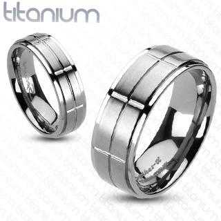 Snubní Titanové prsteny R-TI-0539M (Snubní prsteny R-TI-0539M)