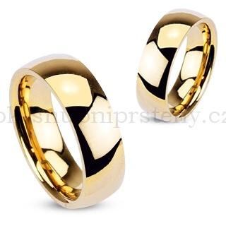 Snubní prsteny levně z chirurgické oceli R002-6 (Snubní prsteny R002-6)