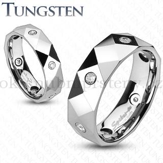 Wolframové snubní prsteny R-TU-140 (Wolframové snubní prsteny R-TU-140)