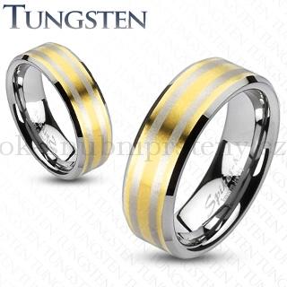 Wolframové snubní prsteny R-TU-143 (Wolframové snubní prsteny R-TU-143)
