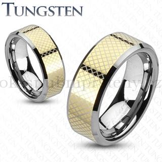 Wolframové snubní prsteny R-TU-144 (Wolframové snubní prsteny R-TU-144)