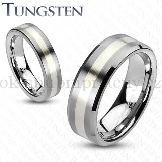 Wolframové snubní prsteny R-TU-203 (Wolframové snubní prsteny R-TU-203)
