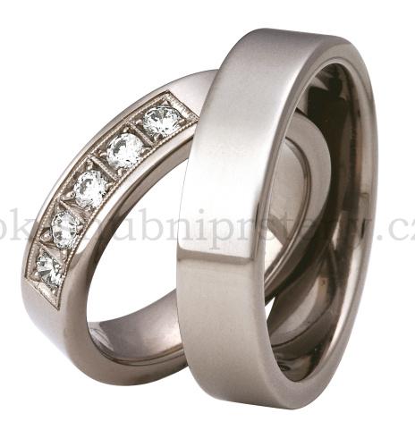 Snubní Titanové prsteny T200-5/P (Snubní prsteny T200-5/P)