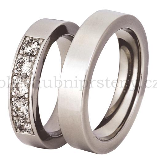 Snubní Titanové prsteny T200-5 (Snubní prsteny T200-5)