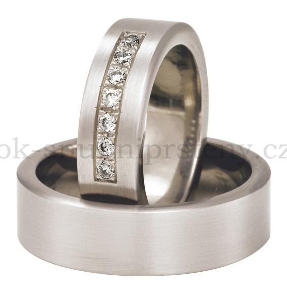 Snubní Titanové prsteny T200-6 (Snubní prsteny T200-6)