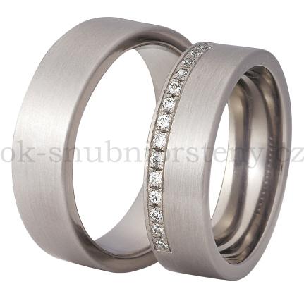 Snubní Titanové prsteny T200-6/15 (Snubní prsteny T200-6/15)