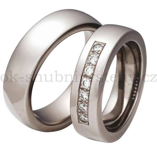 Snubní Titanové prsteny T300-6 (Snubní prsteny T300-6)