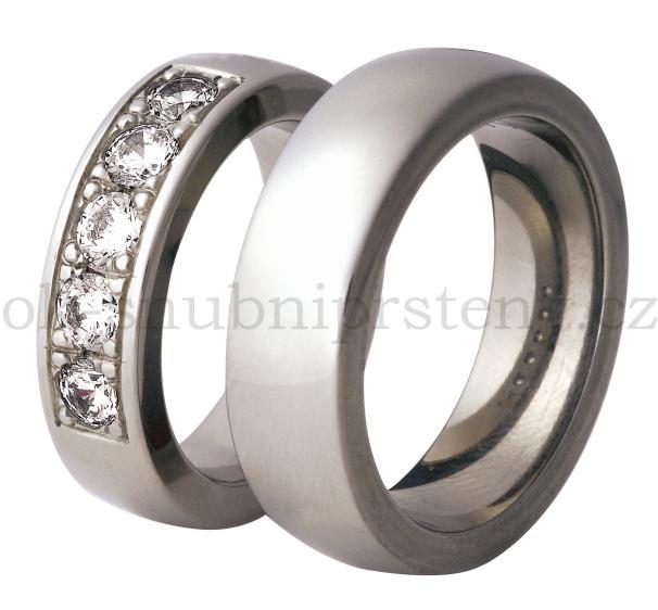 Snubní Titanové prsteny T300b-6P (Snubní prsteny T300b-6P)