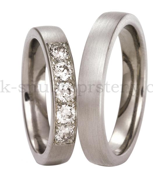Snubní Titanové prsteny T300c-5P (Snubní prsteny T300c-5P)