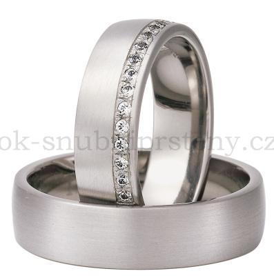 Snubní Titanové prsteny T300d-6/15 (Snubní prsteny T300d-6/15)
