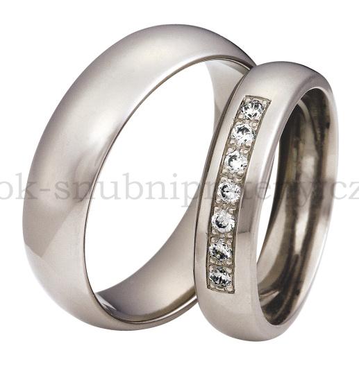 Snubní Titanové prsteny T400-5P (Snubní prsteny T400-5P)