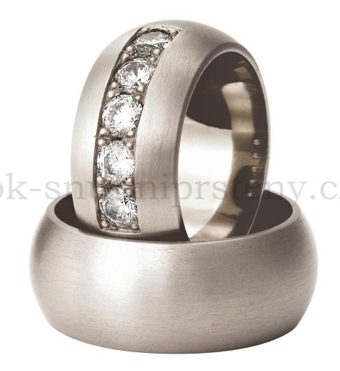 Snubní Titanové prsteny T400-10 (Snubní prsteny T400-10)